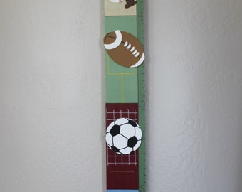 Personlized Wooden Sports Growth Chart