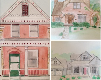 House Portrait Watercolor