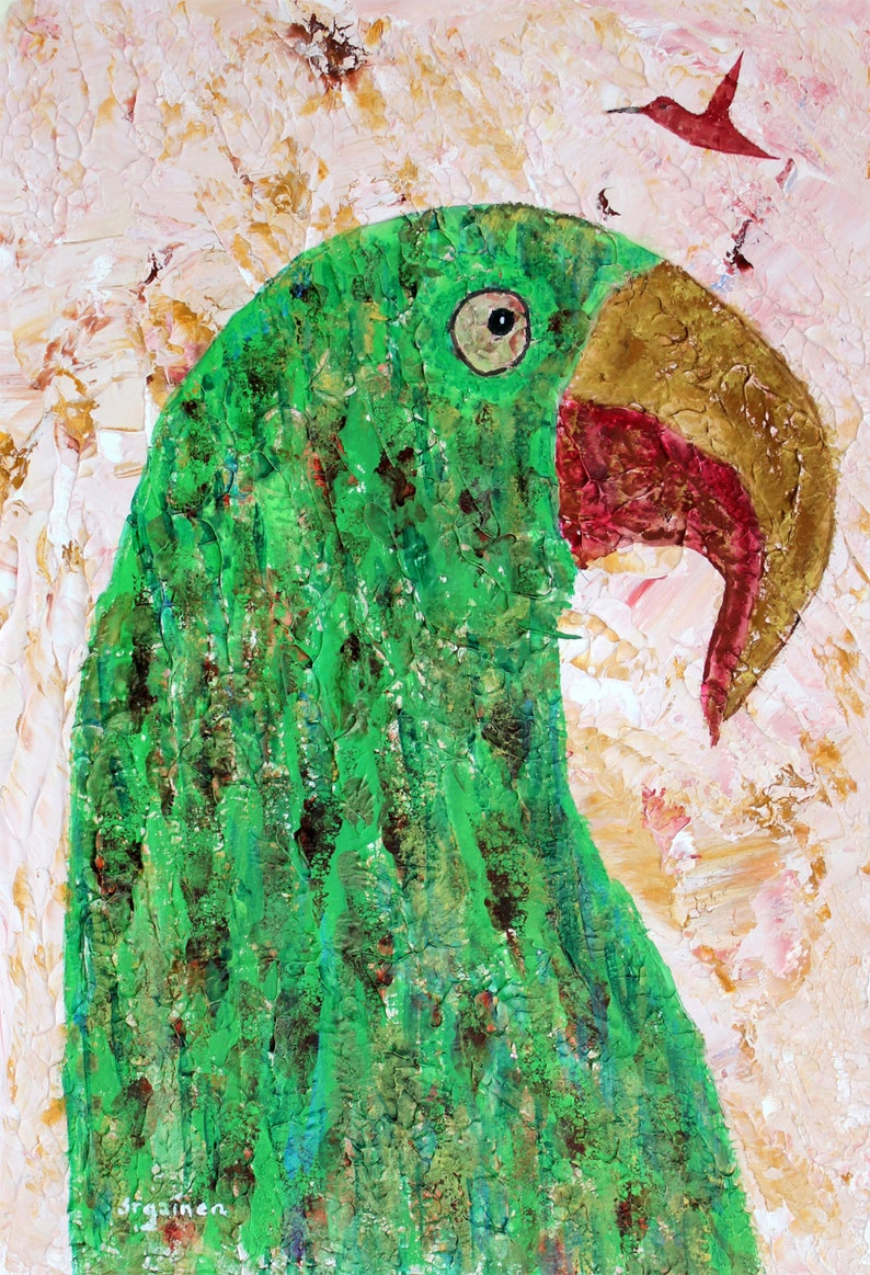 Parrot Art Cave Painting Art Grand Cave Parrot and image 0