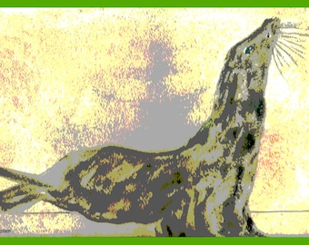 Happy Seal, Seal art, Seal portrait,