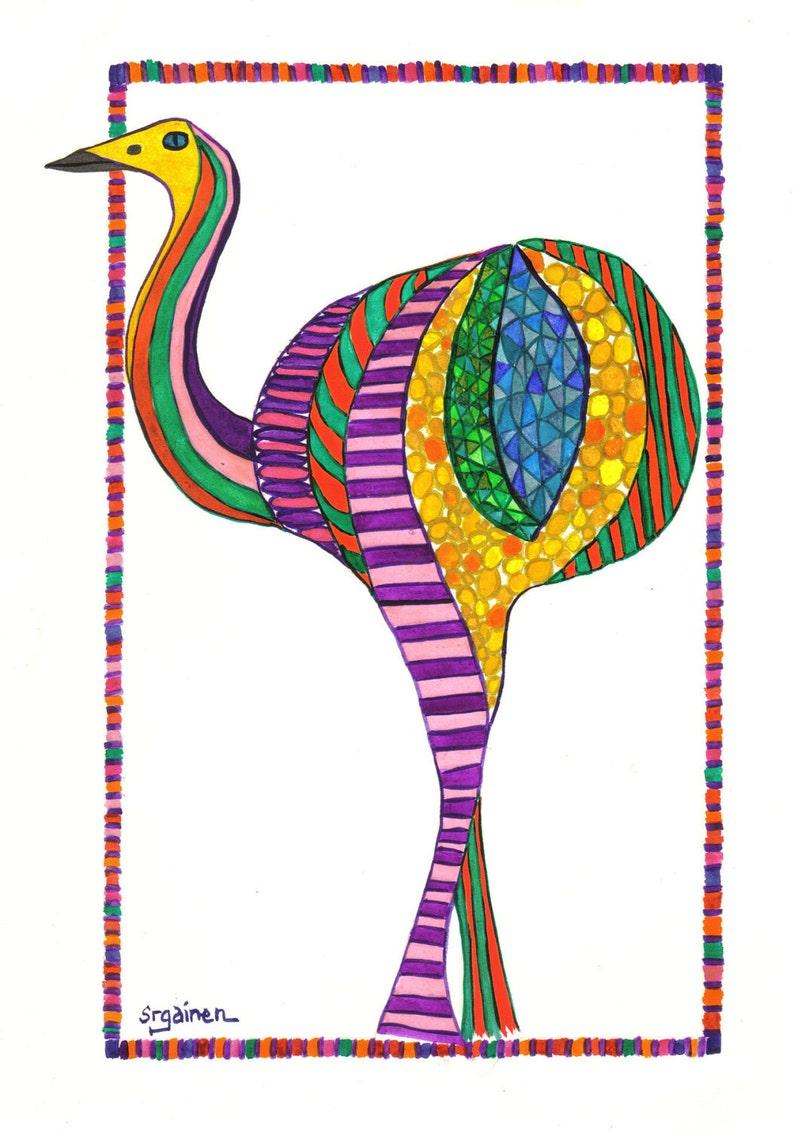 Bird Bird Art Rhea Bird Rhea Bird Art Celebration Rhea image 0