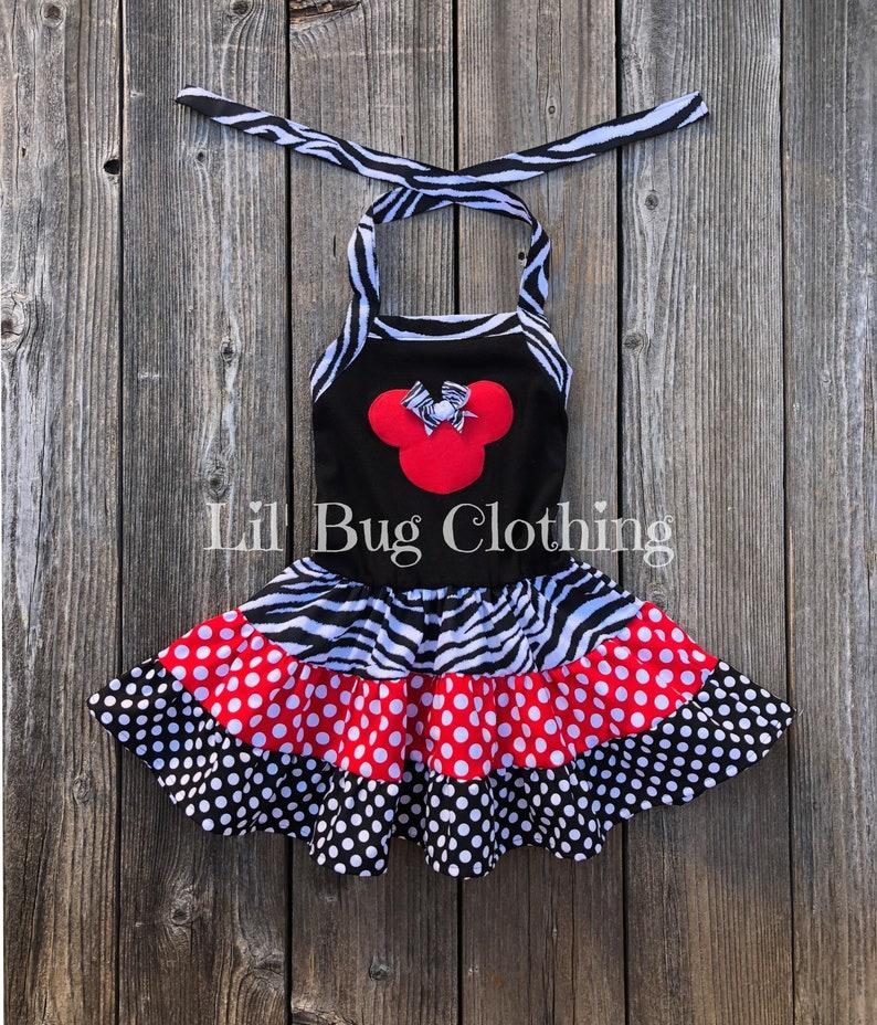 9a0fd426e Minnie Mouse Animal Kingdom Twirl Dress Minnie Mouse Zebra | Etsy