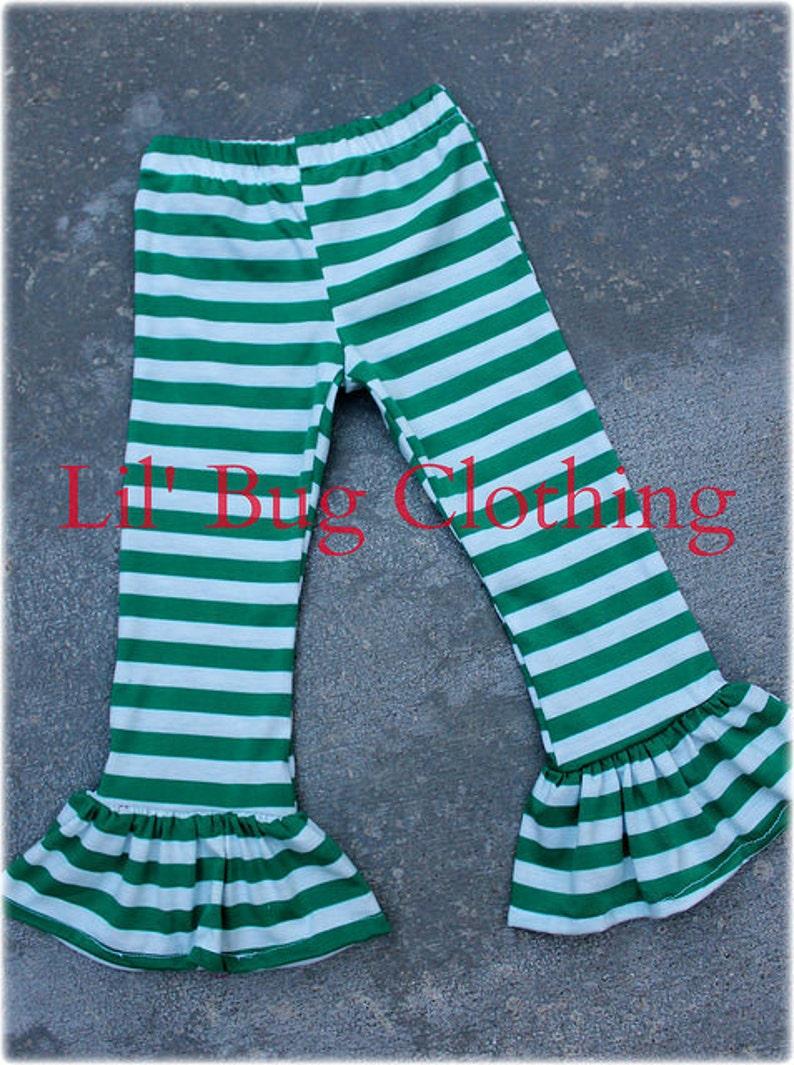 d9bc62fc482 St. Patricks Day Leggings Christmas Green And White Stripe