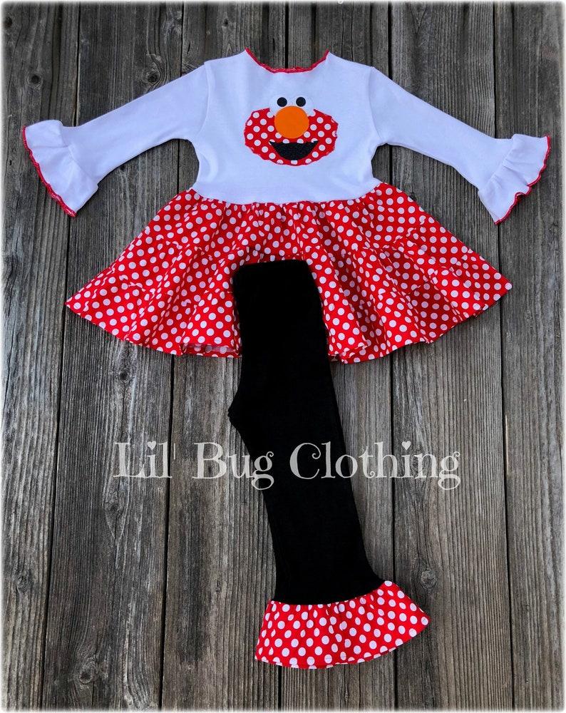 Elmo Sesame Street Girl Outfit Elmo Sesame Street Dress    23a5393db