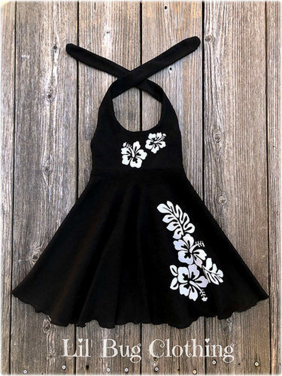 Hawaii Aloha Hibiscus Baby Rompers One Piece Jumpsuits Summer Outfits Clothes Black