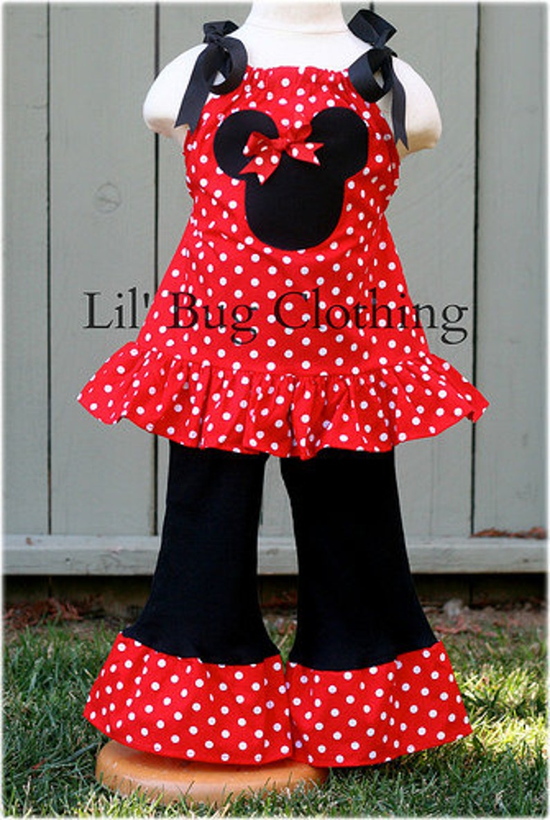 e8f5a66415f Minnie Mouse Red White Polka Dot Outfit Minnie Mouse
