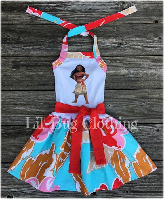 Vestido Moana Moana Vestido De Punto De Cumpleaños De La Niña La Fiesta De Cumpleaños De Moana Hawaiian Luau Vestido De Niña Ropa De Niña Moana