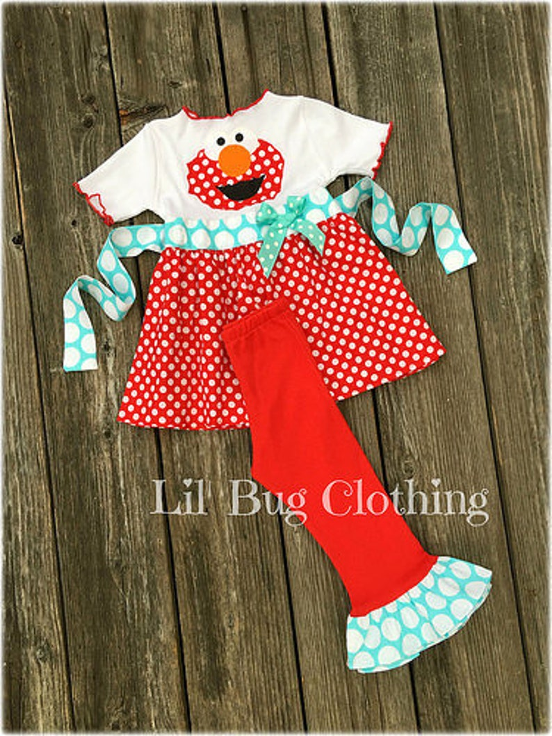 Elmo Girl Clothes Elmo Girl Outfit Elmo Birthday Party  def237d93