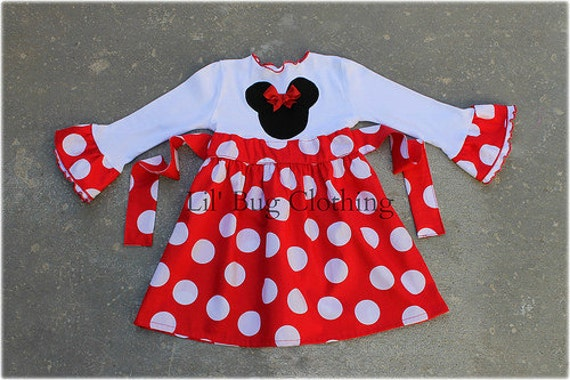 d400d8f7501 Minnie Mouse Red Jumbo Dot Dress Red White Polka Dot Minnie
