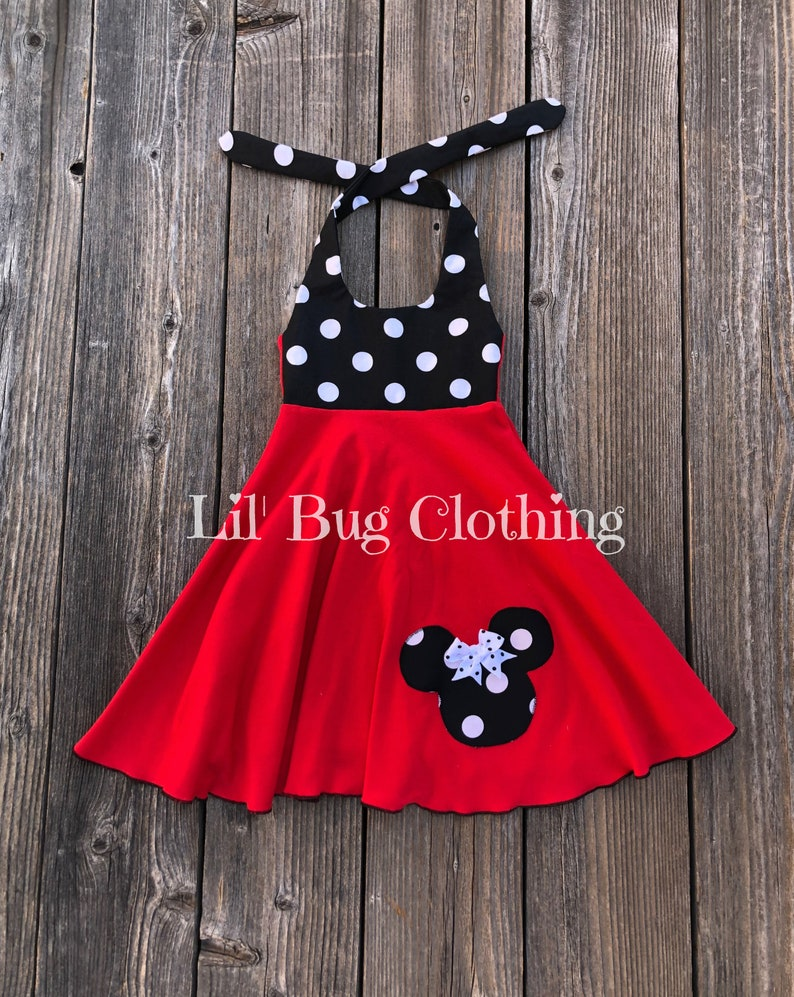 6d7fb55c5 Minnie Mouse Black White Polka Dot Dress Minnie Mouse Red | Etsy