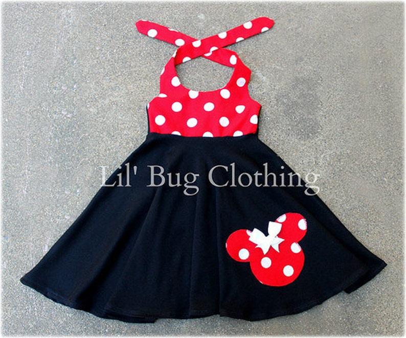 f4f3073ad85 Minnie Mouse Dress Red White Polka Dot Minnie Mouse Dress