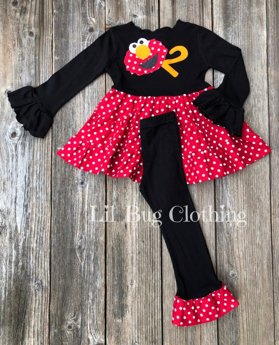 Elmo Sesame Street Girl Outfit Elmo Sesame Street Dress    23a5393db