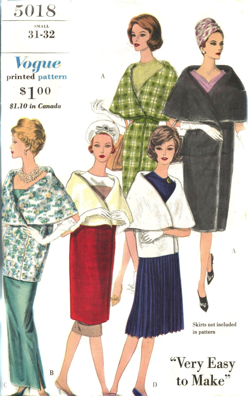 ORIGINAL Vintage 1960 Evening and Day Wrap Pattern Bust image 0