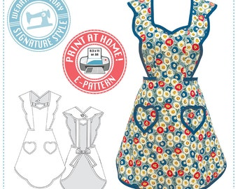 E-Pattern- 1940s Apron- Wearing History PDF Vintage Sewing Pattern