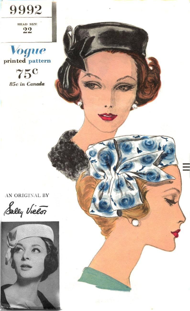 ORIGINAL Vintage Early 60s Sally Victor VOGUE HAT Pattern image 0