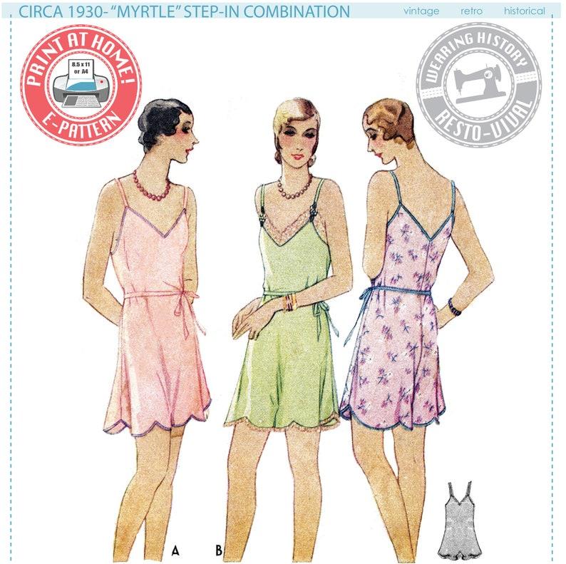 E-Pattern-Myrtle Circa 1930 Step-In Combination Underwear image 0