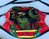 Taurus Face Mask Adult Reversible Washable