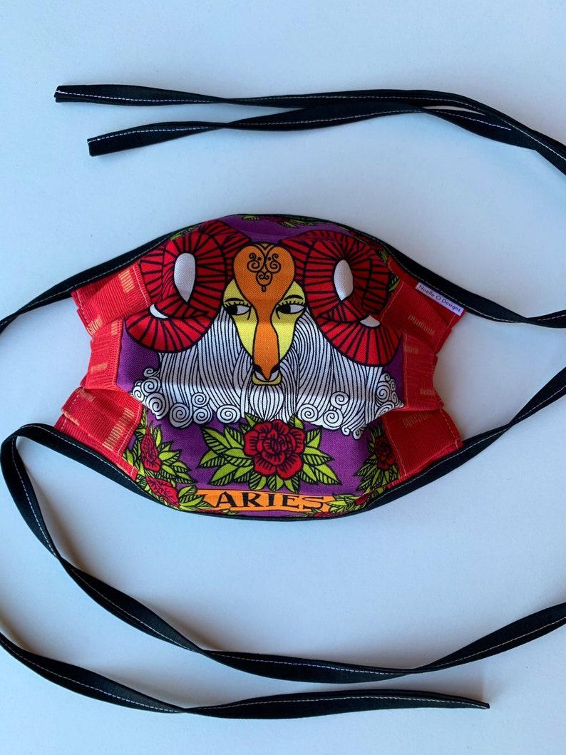 Aries Face Mask Adult Reversible Washable image 0