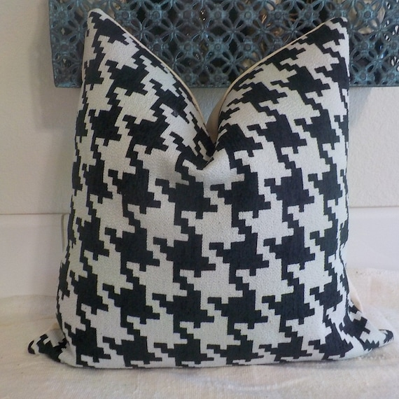 Lumbars Only Hounds Tooth Woven Pillow Cover Jumbo Etsy