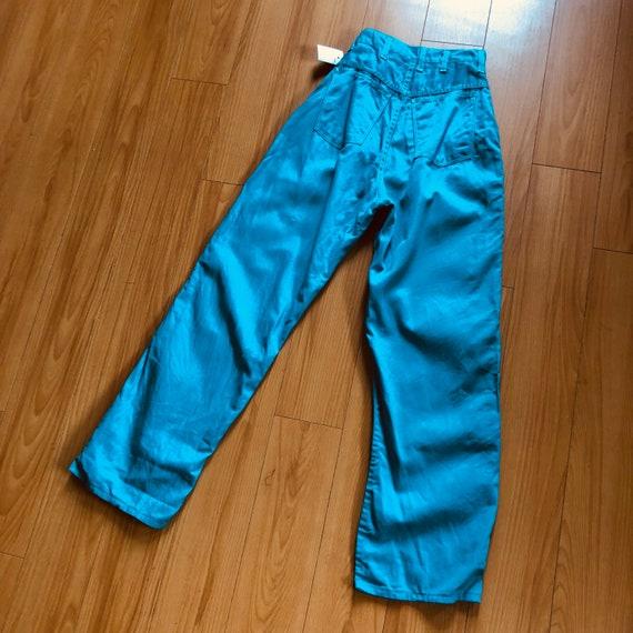 Vintage 1950s Aqua Teal Denim Jeans Jeanies - Miss