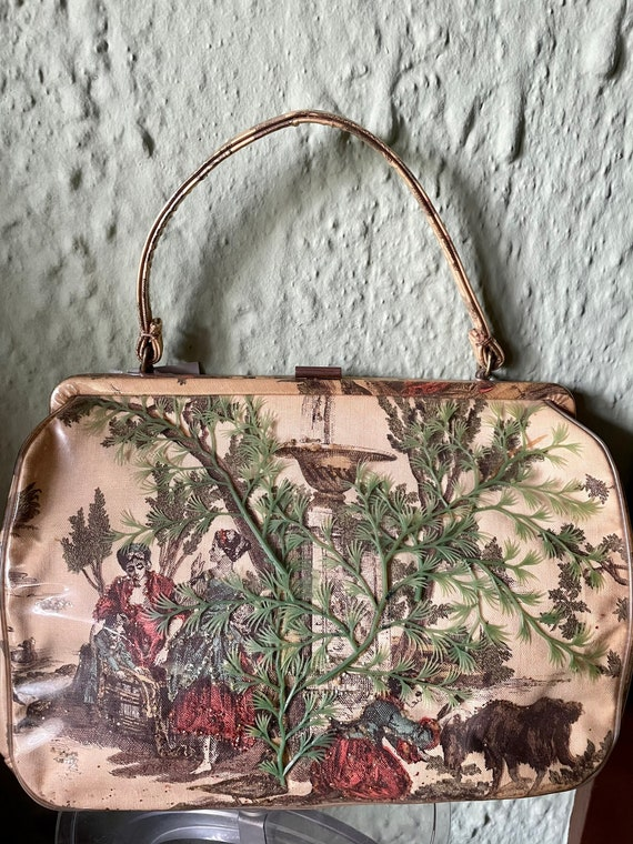 Vintage 1950s Novelty Scenic Figural 3D Purse by M