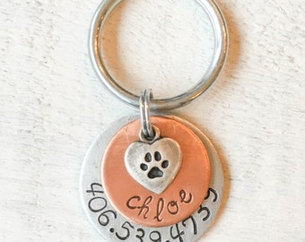Not all dog tags are created equal. Pet id tags handcrafted in Bozeman, Montana personalized to your custom request. Chloe Pet Tag