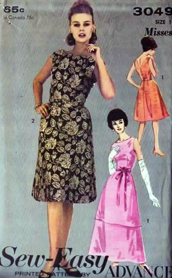 Jahrgang 1960 Cocktailkleid oder Abendkleid w / | Etsy