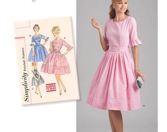 Misses' 1960s Vintage Dress Sewing pattern Simplicity 8591 90th Anniversary Plus Size 12-20 UNCUT