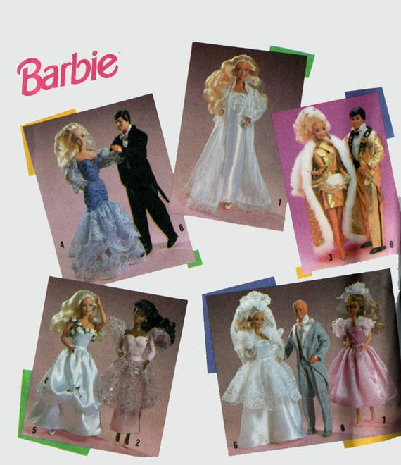 Jahrgang 90er Barbie Ken Mode Puppe Hochzeit formelle Kleidung | Etsy