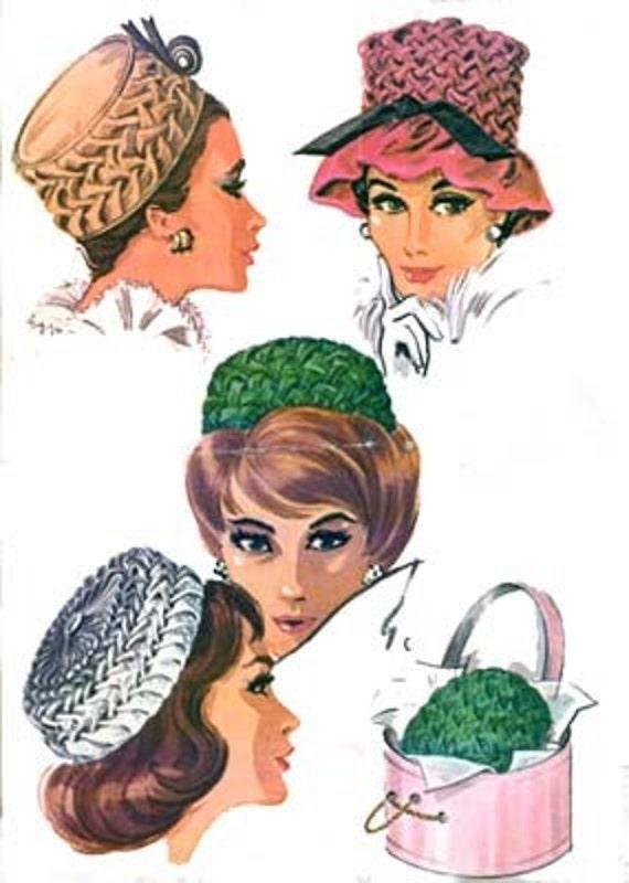 Vintage 1960er Jahre Smok Pillbox Hut Nähen Muster McCalls | Etsy