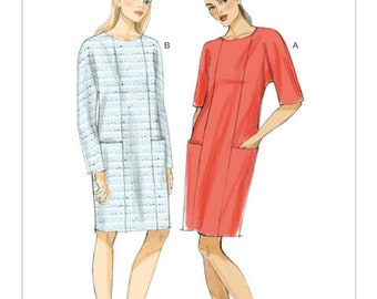 Misses' Dolman Sleeve Dresses Sewing Pattern Very Easy Vpgue 9022 Size Lg tp xxLg 16-26 UNCUT