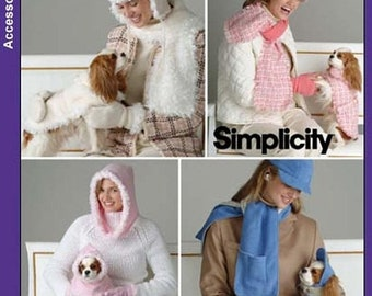 ON SALE Misses Hats and Dog Coats Sewing Pattern by Elaine Heigl Simplicity 4316 All Sizes UNCUT