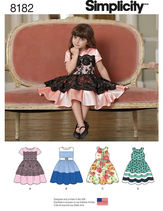 Sweet Child S Party Dress Lace Overlay Piped Bodice Etsy