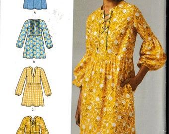 Simplicity D0892 / 8551 Women's Dress or Tunic Pattern, Size 12-20 Plus Size Pattern UNCUT
