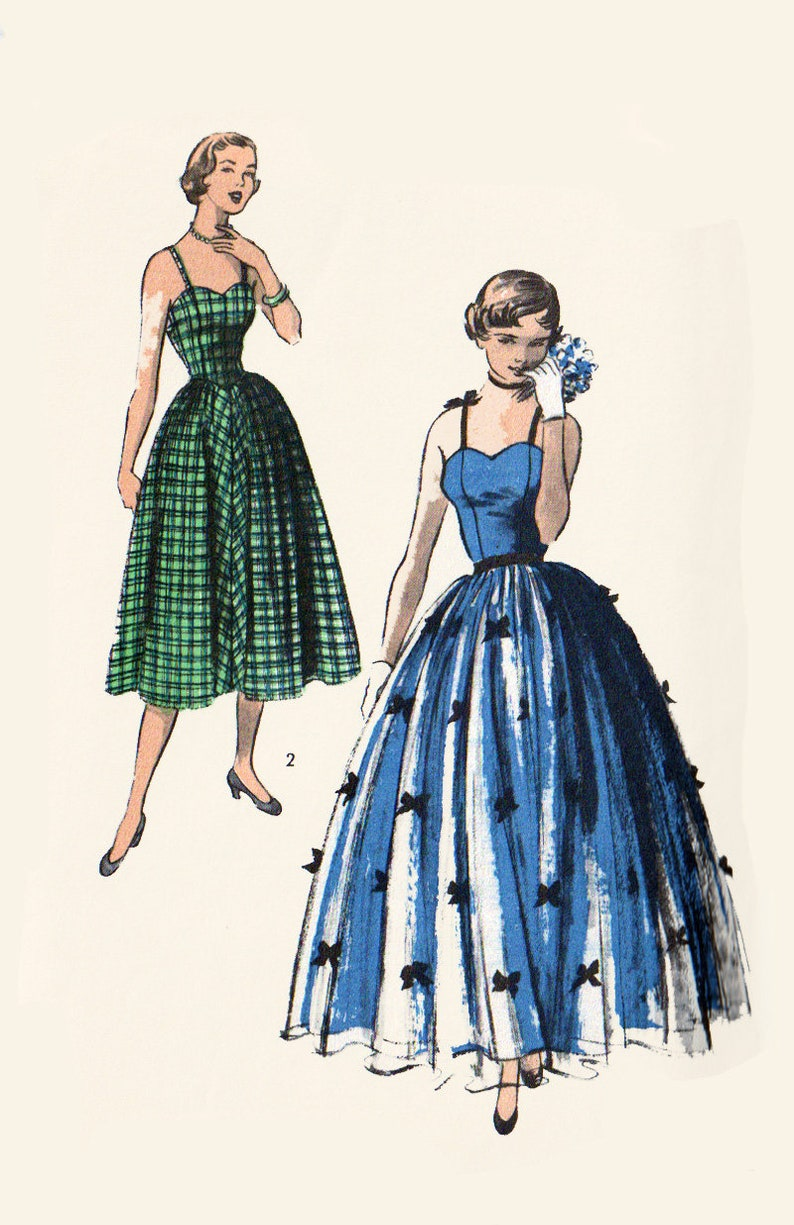 Vintage 50s Sundress or Evening Gown Prom Dress Teen age image 0