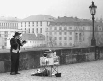 Prague Busker - Original Signed Fine Art Photograph