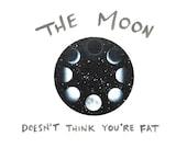"""Framed 5""""x5"""" Moon Phases Art Print - Small Framed Art Gift - Encouraging Humor"""