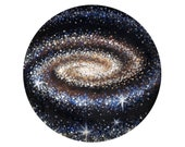 """Spiral Galaxy Framed Mini Print - 5""""x5"""" - Celestial Artwork of Outer Space and Milky Way"""