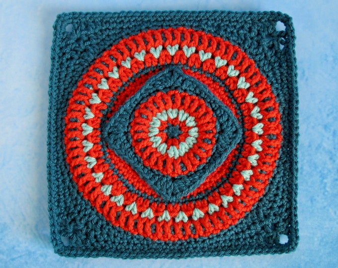 All Wrapped Up in Circles & Squares Crochet Pattern PDF - Crochet Square PDF Pattern - Crochet Block - PDF Crochet Pattern
