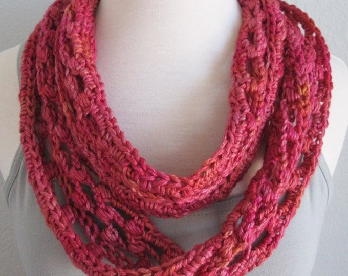 Ladder Lace Infinity Scarf - PDF Crochet Pattern