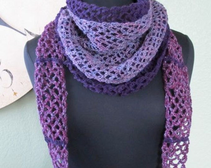 Layers of Lace Wrap Around Scarf - PDF Crochet Pattern