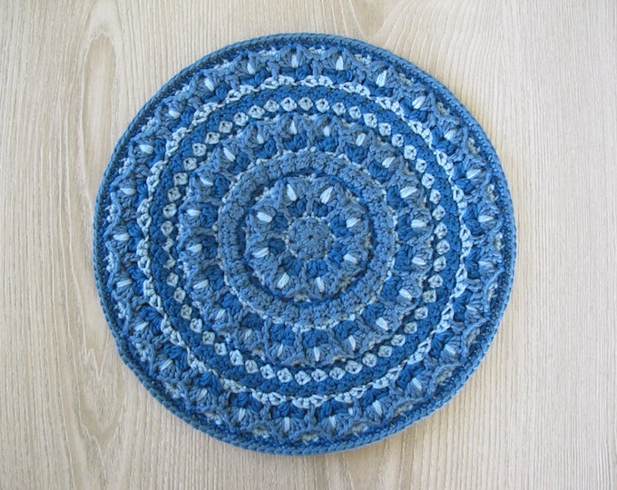 The Tulip Mandala Crochet Pattern - Crocheted Mandala - Crochet Applique - Crochet Round Motif - PDF Crochet Pattern