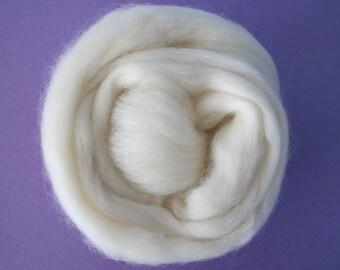 Organic Polwarth Wool Top 1oz - Free Shipping