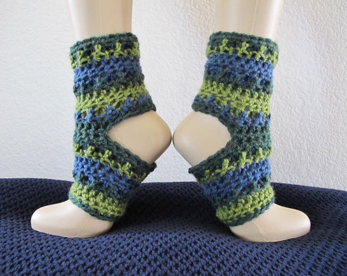 Overlay Crochet Yoga Socks - Ankle Warmers - PDF Crochet Pattern