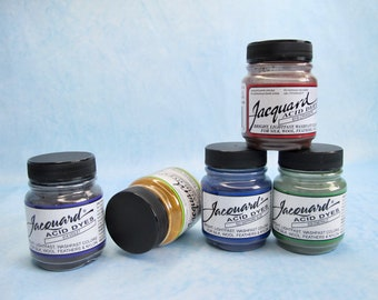 Jacquard Acid Dye - Six .5oz jars - custom order for wgarland only please