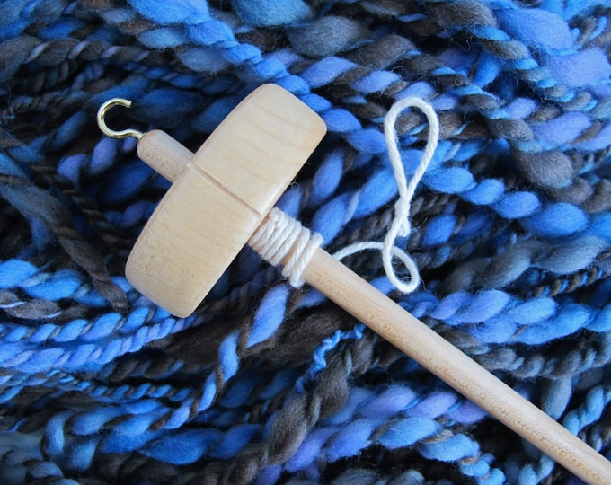 Top Whorl Drop Spindle - Student Spindle - Maple Drop Spindle - Free Shipping
