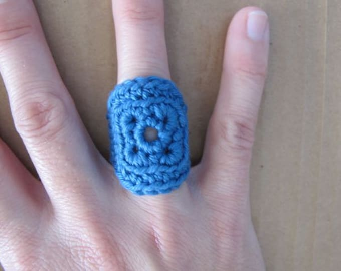 Fiberpunk™ Ring - Denim Blue - Fits Sizes 6 and 7 - Cotton - Free Shipping