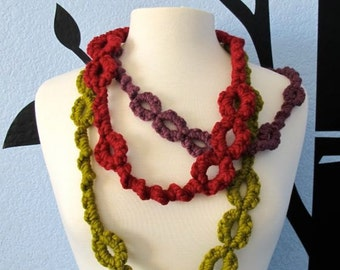Oversized Tatted Necklace - PDF Tatting Pattern