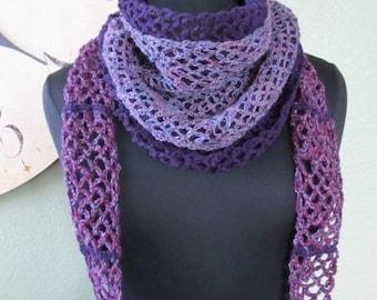Layers of Lace Wrap Around Scarf - PDF Crochet Pattern