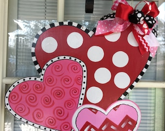 Valentine Door Hanger Valentine Door Decor Front Door Decor Valentine Door Hanger